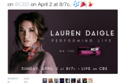 Lauren Daigle to Perform at the ACM Awards on April 2