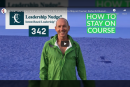 How to Stay on Course